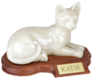 Cat Urn: Faithful Feline Urn - Laying