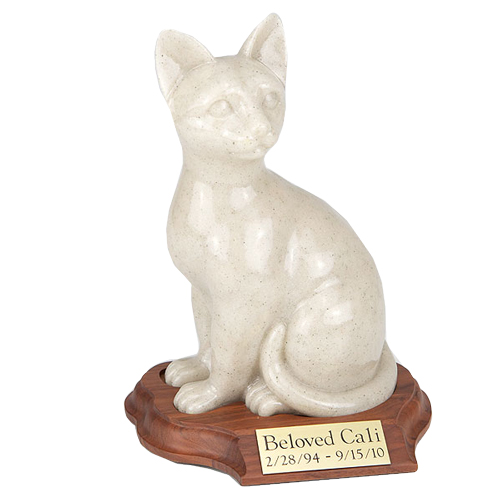 Cat Urn: Faithful Feline Urn - Sitting