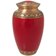 Pet Urns: Cherry Red Urn, 10