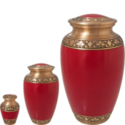Matching mini urn, medium urn and large urn