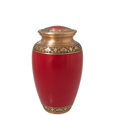 Pet Urns: Cherry Red Medium Urn- 6""