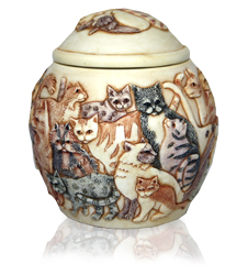 another view of felinicity cat cremation urn