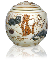 additional view of forever and ever cat cremation urn