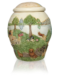 additional view of small dog rainbow bridge II dog urn