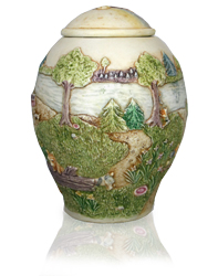 additional view of small dog pet urn rainbow bridge