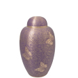 Pet Urns: Butterflies Purple Cremation Urn- 6