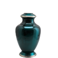 Pet Urns: Shiny Turquoise Blue Cremation Urn- 6
