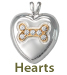 Pet Cremation Jewelry Hearts