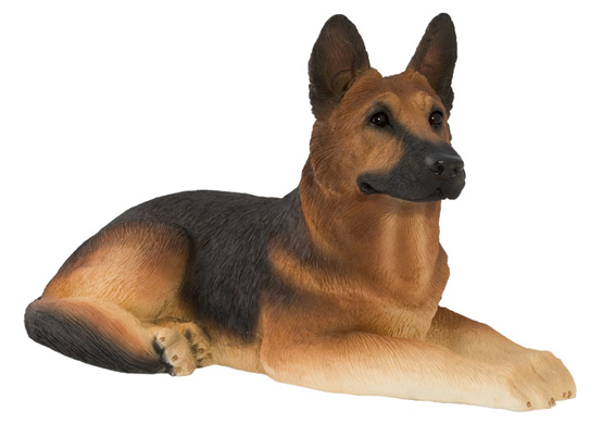Sculpture Dog Urn - German Shepherd