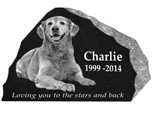 Granite Pet Marker with Photo- Rustic01