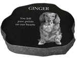 Granite Pet Marker with Photo- Rustic02