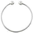Pet Cremation Jewelry: Stainless Steel Ball Cuff Bracelet