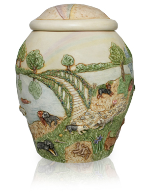 Pet Urn Keepsake: Rainbow Bridge II