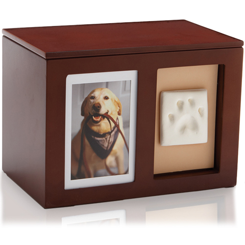 Pet Memorial Wooden Pawprint Memory Box
