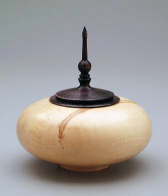 Wooden Pet Urn: Box Elder Wood Urn