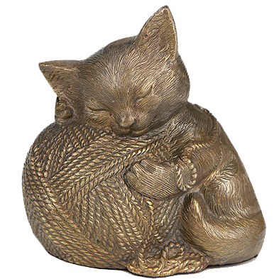 Precious Kitty Gold Cremation Urn