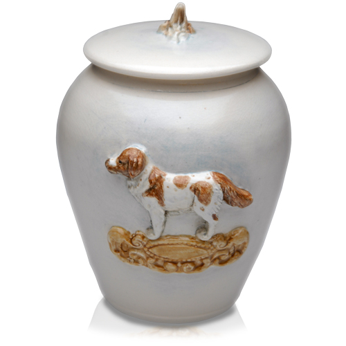 Hand-Painted Dog Urn- Custom pet portrait!