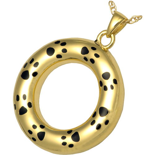 Gold pet cremation jewelry eternity pet urn pendant