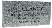 Memorial Pet Headstone - Granite Stone - up to 4