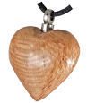 Light Wood Heart Pet Cremation Jewelry Pendant