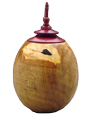 Wooden Medium Dog Urn: Oak Burl