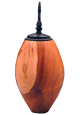 Wooden Medium Dog Urn: Cherry