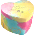 Pet Unity Earthurn Pastel Heart engraved with paw prints