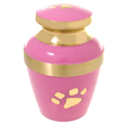 Pink with Brass Pawprint- Large