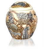 additional view of cat heaven cremation urn