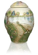 another view of rainbow bridge small dog pet cremation urn