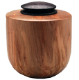 Wooden Small Dog Urn: Ambrosia Maple Wood Urn