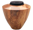 Wooden Small Dog Urn: Spalted Maple Wood Urn