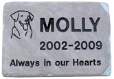 Memorial Pet Headstone - Flagstone - Lilac - Large