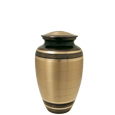 Black and Brass Striped Pet Urn 6