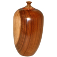 Striated Cherry Wood Pet Urn