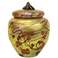 Additional view of Poppy glass pet urn