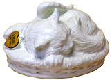 Sleeping Angel Cat Cremation Urn - White