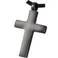 Black Nickel Cross Pet Cremation Jewelry
