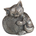 Precious Kitty Silver Cat Urn
