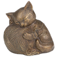 Precious Kitty Bronze Cat Urn