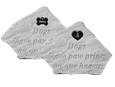 Custom name dog memorial garden stone