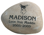 Pet Memorial Garden Keepsake Stones - Natural River Rock - Large