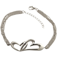 Pet Cremation Jewelry Linked in Love Bracelet Sterling Silver
