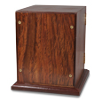 Back shown of Elegant Photo Wood Pet Urn