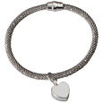 Sterling Silver Rhodium-plated Bracelet with urn charm