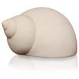 Side view of Ocean Spirit Spiral Shell Pet Urn in ivory