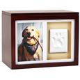 Pet Memorial Wooden Pawprint Memory Box- 1 Window
