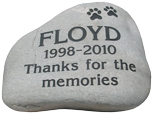Pet Memorial Garden Keepsake Stones - Natural River Rock - Extra Large