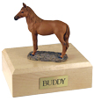 Sorrel Standing Figurine Maple Wood Horse Urn