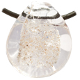 Pet Memory Glass Urn Pendant: Clear (ash only)